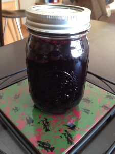 My first homemade jar of Elderberry Syrup!